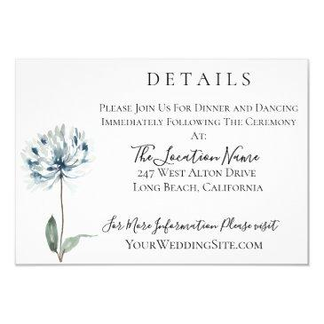dusty blue botanical wedding details
