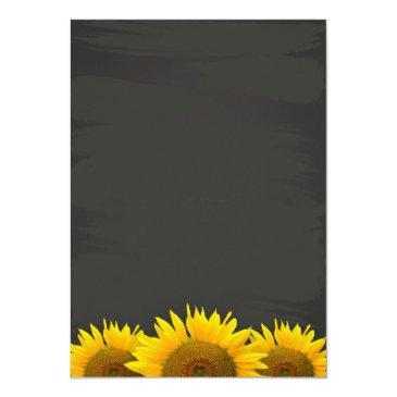 Small Eat Drink And Be Married Chalkboard Sunflowers Back View
