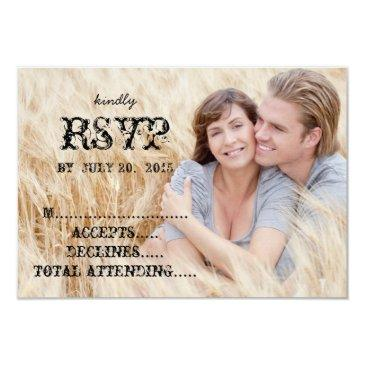 eat drink married rustic country wedding rsvp