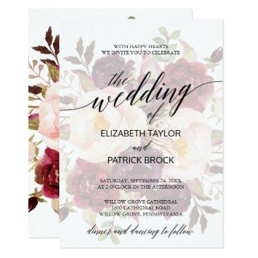 elegant calligraphy | faded floral wedding