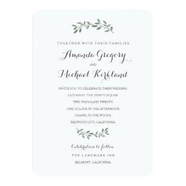 elegant eucalyptus wedding suite invitations