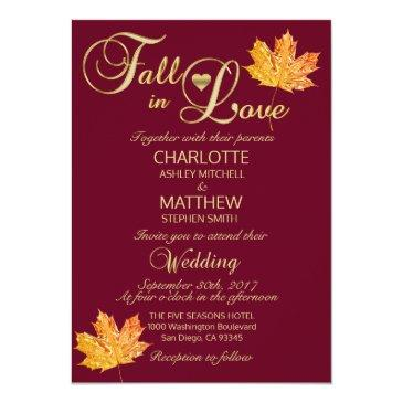 Small Elegant Fall In Love Burgundy Marsala Wedding Front View