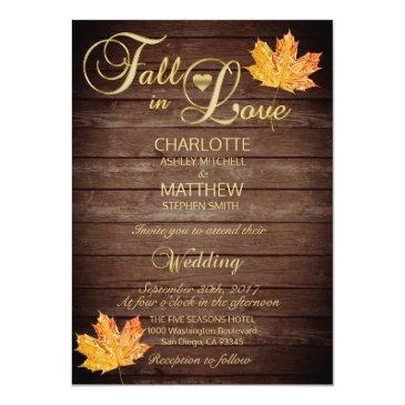 elegant fall in love burgundy rustic wedding invitations