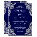 elegant floral lace modern wedding invitations