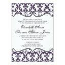elegant plum damask heart wedding