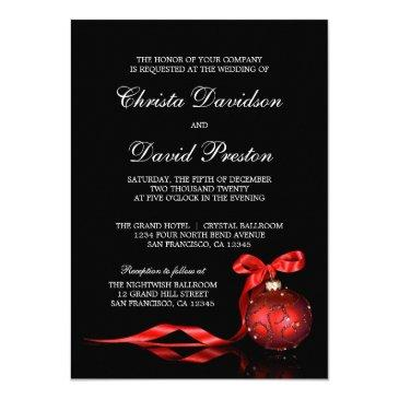 elegant red christmas wedding  template