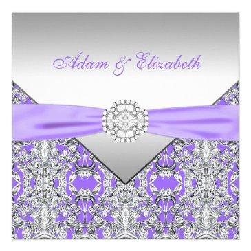 elegant silver and lavender purple lace wedding