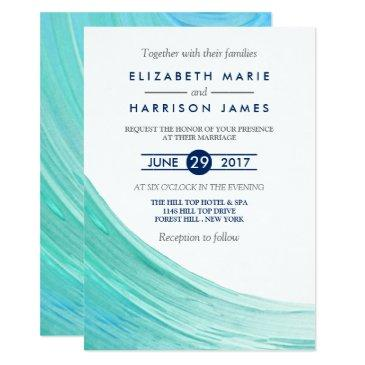 elegant turquoise tides beach wedding