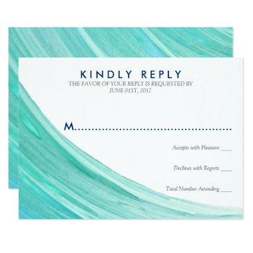 elegant turquoise tides beach wedding rsvp