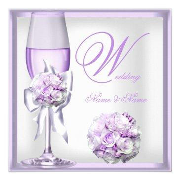 elegant wedding lavender purple lilac champagne 2
