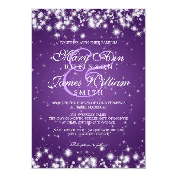 elegant wedding winter sparkle purple