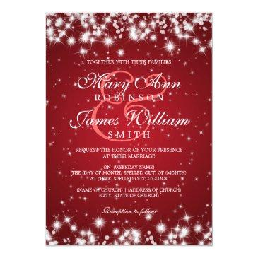 elegant wedding winter sparkle red