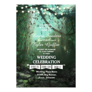 enchanted forest lights rustic wedding