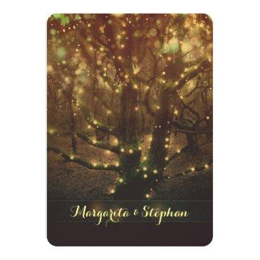enchanted romantic forest lights rustic wedding