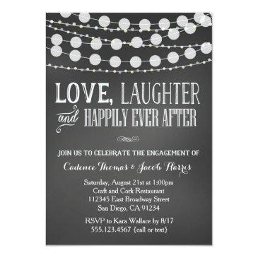 Small Engagement Party Invitation Chalkboard Wedding Front View