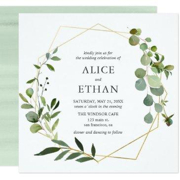 eucalyptus geometric wedding