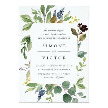Small Eucalyptus Grove Wedding Invitations Front View