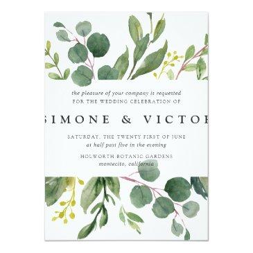 Small Eucalyptus Grove Wedding Invitations | Square Front View