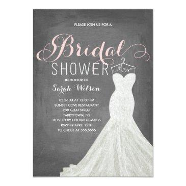 extravagant dress chalkboard | bridal shower