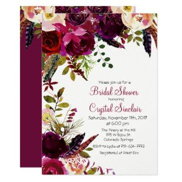 fall autumn floral bridal shower