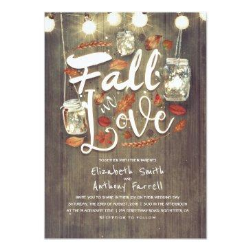 Small Fall In Love Rustic Mason Jar Lights Wedding Front View