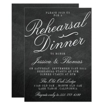 fancy chalkboard wedding rehearsal dinner