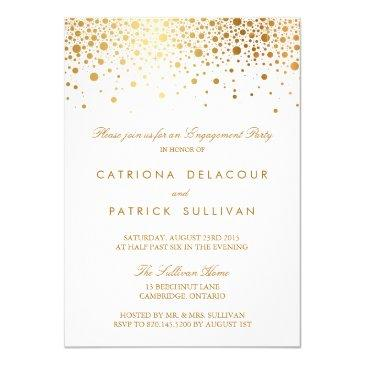faux gold foil elegant engagement party