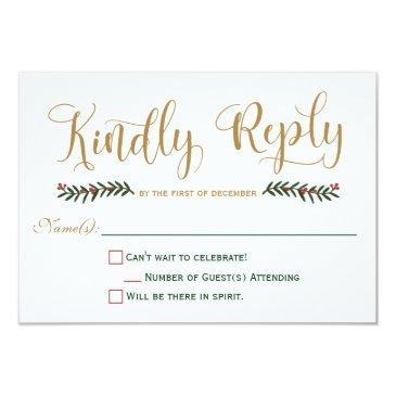 festive holiday christmas wedding  rsvp