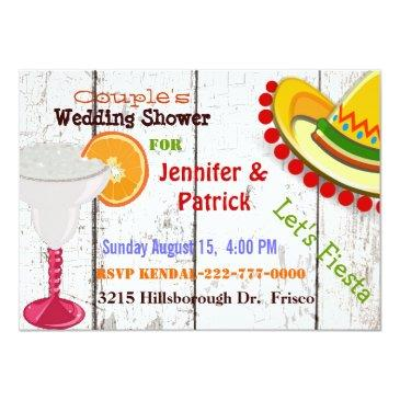 festive mexican fiesta couple's wedding shower invitation