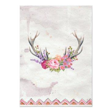 Small Floral Antlers | Rustic Wedding Back View