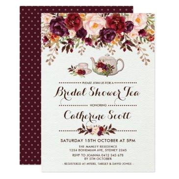 floral boho bridal shower tea party