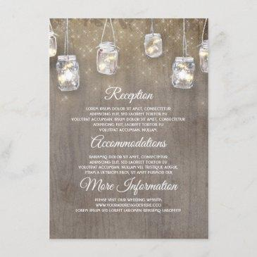 floral rustic wedding information guest