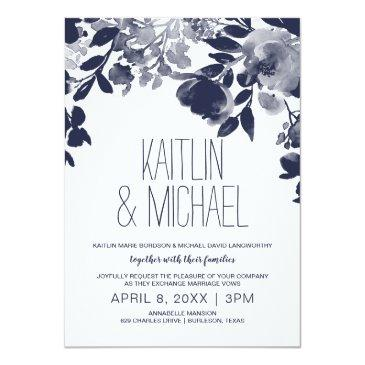 floral rustic wedding  (navy blue)