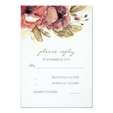 floral watercolor wedding rsvp
