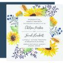 flowerfields wedding invitation | square
