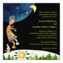 flute player kokopelli southwestern wedding invitations