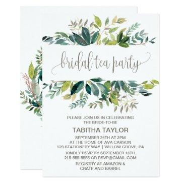 foliage bridal tea party