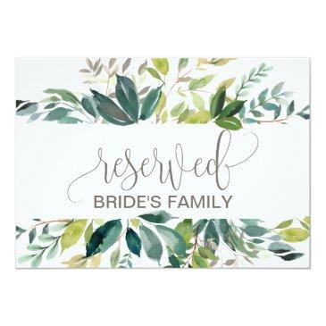 foliage reserved sign