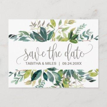 foliage save the date announcement post
