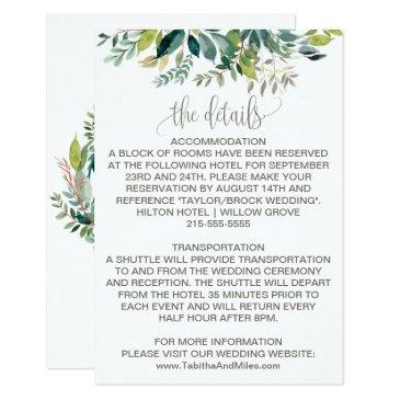 foliage wedding details