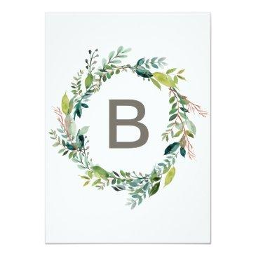 Small Foliage With Monogram Wreath Backing Wedding Back View
