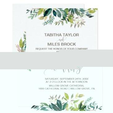 foliage with monogram wreath backing wedding