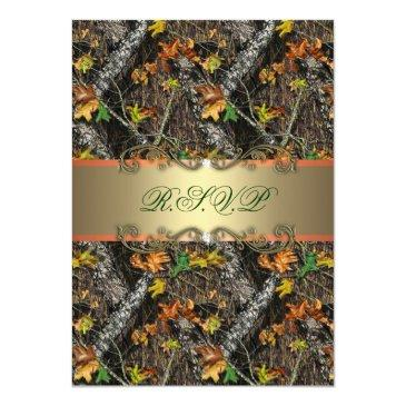 Small Formal Camo Wedding Rsvp Front View