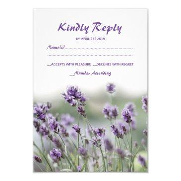 french lavender flower blossoms wedding rsvp