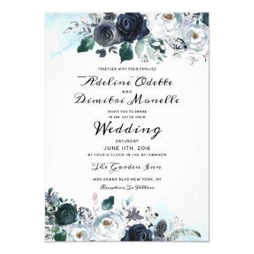french twilight floral watercolor wedding ceremony