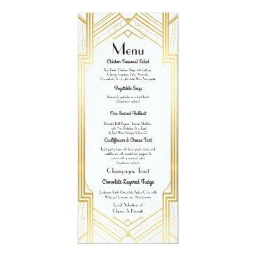 gatsby menu wedding reception 1920's art deco