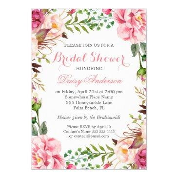 girly romantic floral wrap wedding bridal shower