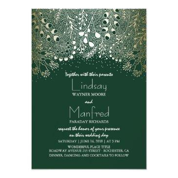 gold and emerald green enchanted woodland wedding