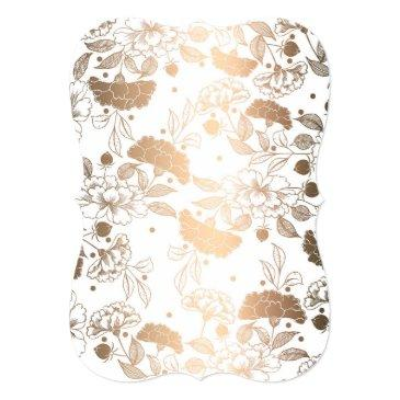 Small Gold Peonies | Floral Elegant And Vintage Back View