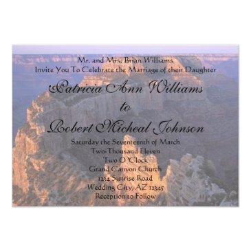 grand canyon wedding  announcement